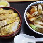 京屋 - カツ丼と鳥なんばんそば