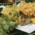 74794080 - 生桜えび、生しらす、野菜の天ぷら