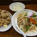 フタツメ - 濃厚タンメンから揚げセット(950円)