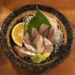 かみ風船 - 料理写真:関アジの刺身