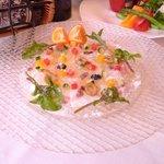 ブランベック - 料理写真:新鮮魚介のカルパッチョ¥1000