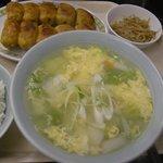 7480930 - 「焼(餃子10個)野菜スープセット」