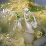 7480932 - 「焼(餃子10個)野菜スープセット」の野菜スープ