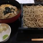 藪伊豆 - 親子丼と盛りそばのセット