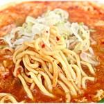 元祖カレータンタン麺 征虎 - ムッチリ感のある麺。