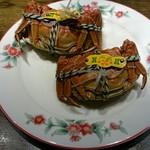 74804369 - 蒸し上海蟹 オスメス食べ比べ