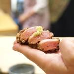 初音鮨 - 大トロ 漬け炙り