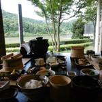 和彩膳所 楽味 - 料理写真:朝食と景色