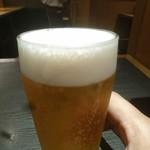 能古うどん - 生ビール(小・350円)