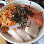 74813110 - 今日の三色丼のネタ(≧∀≦)/