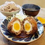 ネマルカフェ - スコッチエッグ定食(950円)