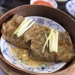 シャンデリア飲茶 - ポルチーニ茸湯葉巻