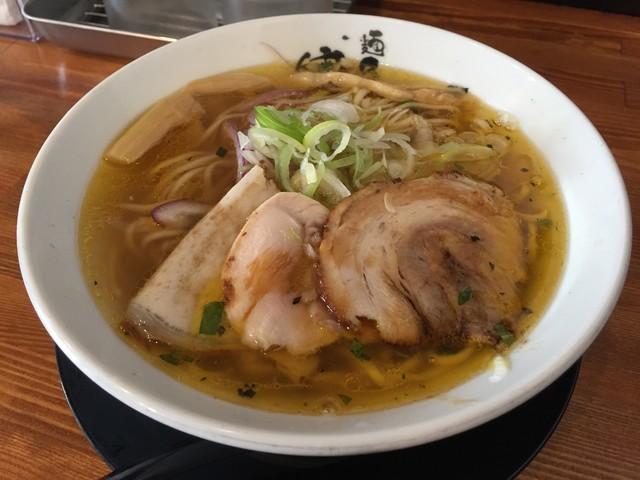 麺匠 中うえ  - 淡麗塩らーめん(700円)