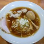 74833055 - 自家製醤油ワンタン麺+味玉