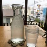 カフェ ブブカーネ - お水が少し動揺してる… ゆってやったさ ヘイ!ピッチャーピッチャー