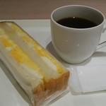 リトルマーメイド - 料理写真:イギリスパンのたまごサンド、ブレンドコーヒー