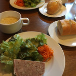 カメレオン - ランチ前菜とスープ@1,300