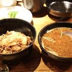 みかわ 是山居 - ☆天丼、味噌汁