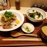 みどりのキッチン - 牛焼肉アボカド丼