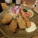 味神戸 - メインディッシュ(カツ、エビフライ、コロッケ)