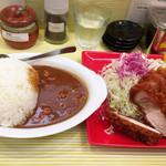 とんかつ檍のカレー屋いっぺこっぺ - 特上ロースカツカレー ライス大盛り ¥2,300+100