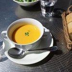 イタリア食堂 LAPANCIA - ランチのスープ、キャロット