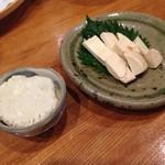 美酒美燗 煮りん - クリームチーズの味噌漬けとカニ味噌チーズ