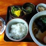 すゞ木屋 - 料理写真:ラーメンセットにゲソ天で930円