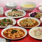 猪苗代湖畔のレストラン 中国料理 西湖 - 豪華な本格中がが並ぶコース料理