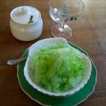 七葉樹 - 料理写真:かき氷(メロン):350円