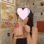 74858574 - メガジョッキ重〜い♡
