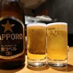 銀座寿司処 まる伊 - ビール