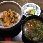 天ぷら岡本 - 小柱のかき揚げの天丼