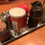 麺屋 えん寺 - 卓上