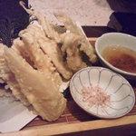 えん - 新筍の天ぷら 桜塩で