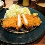 黄金色の豚 - 金星佐賀豚ロース120gかつ御膳 1706円