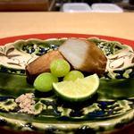 壱 - 海老芋、銀杏揚げ