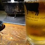 どんどん - 生ビール(サッポロ黒ラベル)