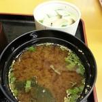 寿し処弁慶 - 味噌汁付きます