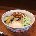 麺 銀三 - 料理写真:温玉肉味噌きしめん 冷☆