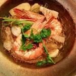 Asian Dining PUERTO - 海老と春雨の蒸し焼き
