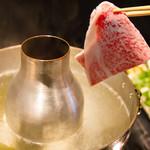 吉祥寺 三うら - 料理写真:伊万里牛 リブ芯ロースしゃぶしゃぶ