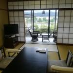 京都嵐山温泉 渡月亭 - 眺めのよい部屋でした