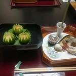 京都嵐山温泉 渡月亭 - 先付け