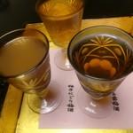 京都嵐山温泉 渡月亭 - 梅酒飲み比べ