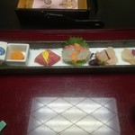 京都嵐山温泉 渡月亭 - さしみ