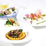 レストラン クララ - 【シェフ上原のおまかせフレンチコース一例】メインは魚・肉から選べるコース。