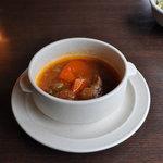 きた山 - ボルシチ風のスープ