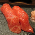 毛利志満 - 牛にぎり寿司
