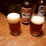 飯場 - 金しゃち赤ビール650円税込。
